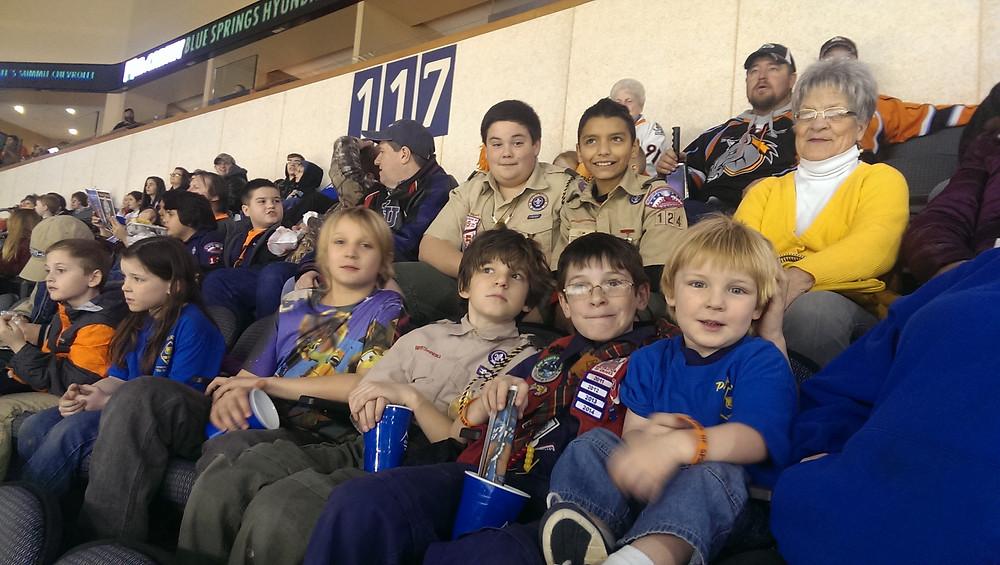 Scout Night at the Mavericks 2015