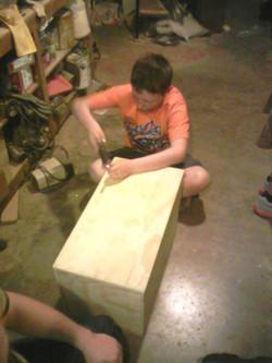 Assembling the camp box