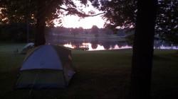 Sunrise over Lake Luna
