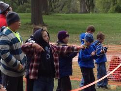 Slingshots at Fall Family Camp