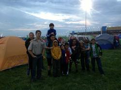 Troop 124 at Scouting 500 2014