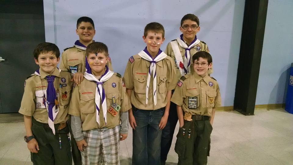 2 new Boy Scouts joining Troop 124 from Pack 315