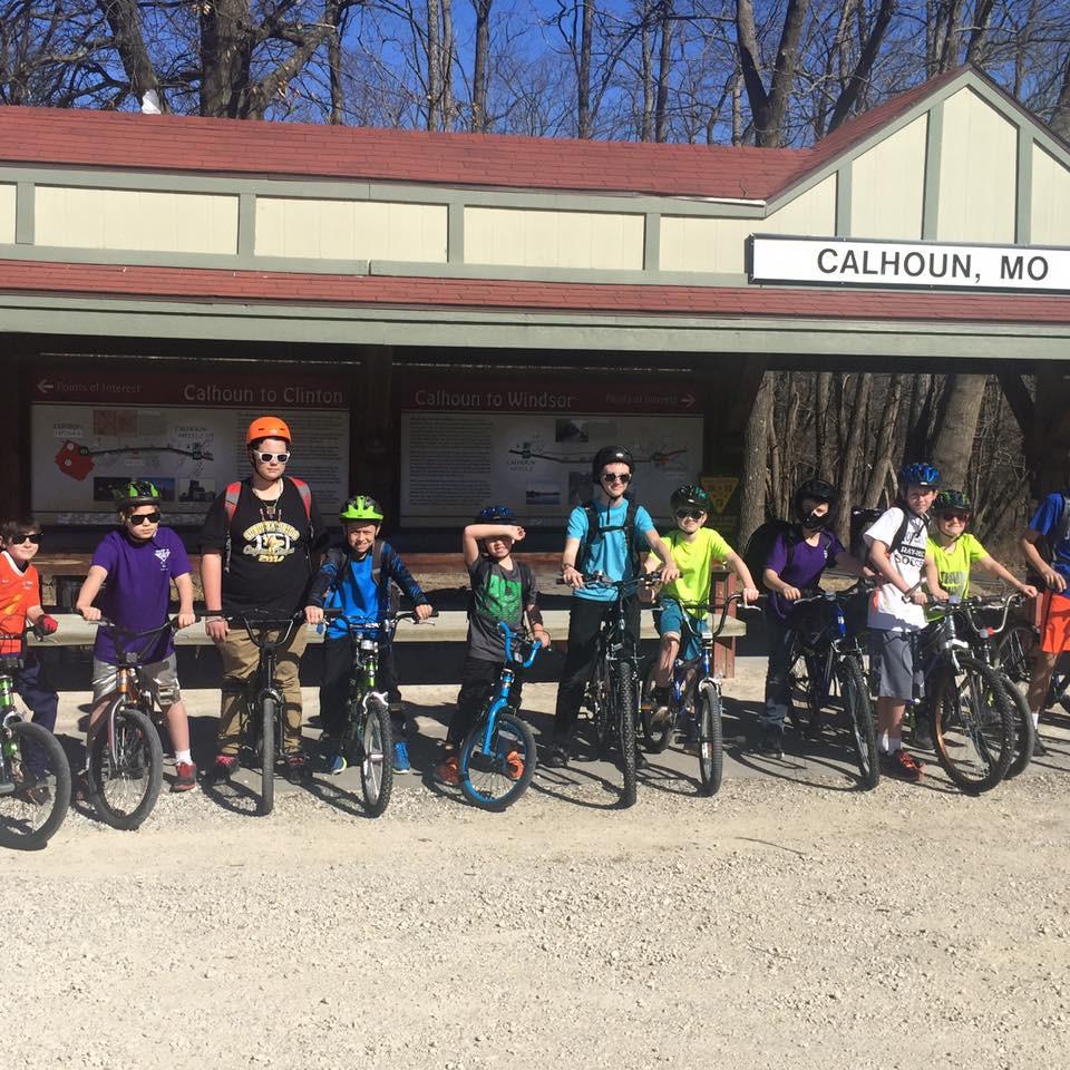 Boy Scout Troop 124 on Katy Trail in Calhoun, MO