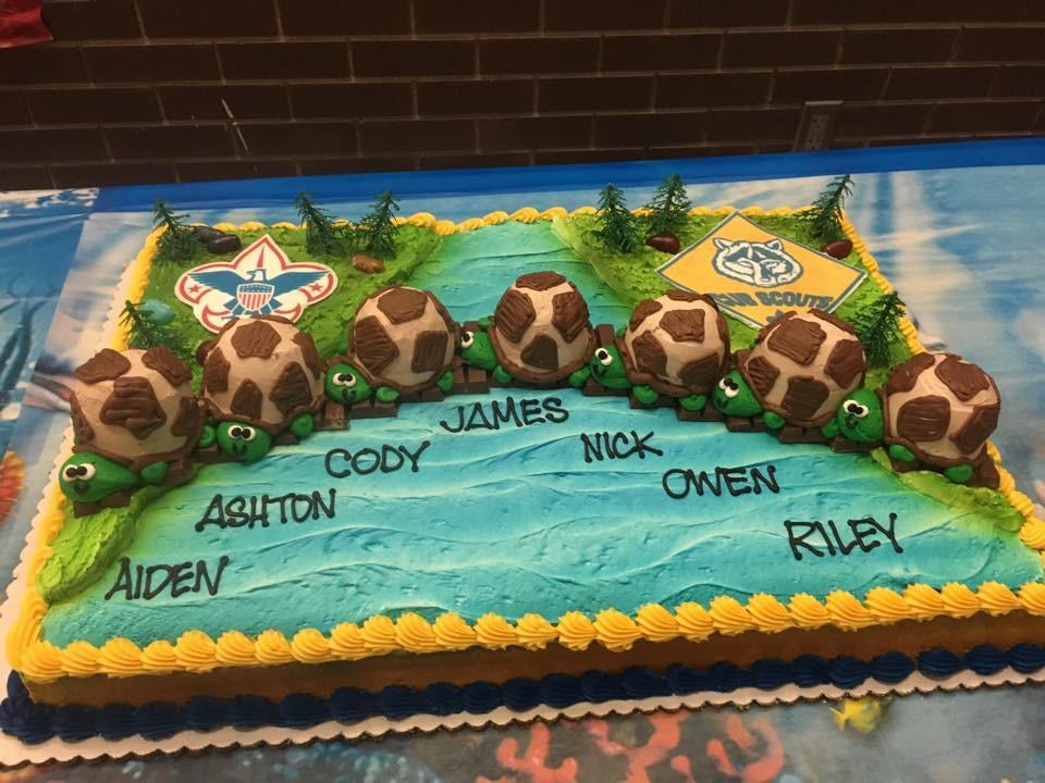 Mighty Turtle Den Cake