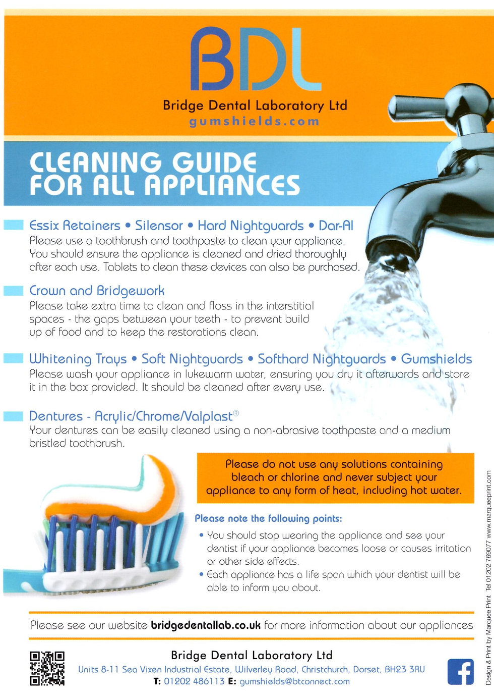 Bridge Dental Lab Cleaning Guide