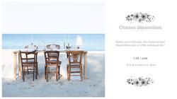 chaise vintage depareillees location