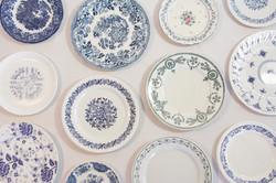 Assiettes bleues pannel