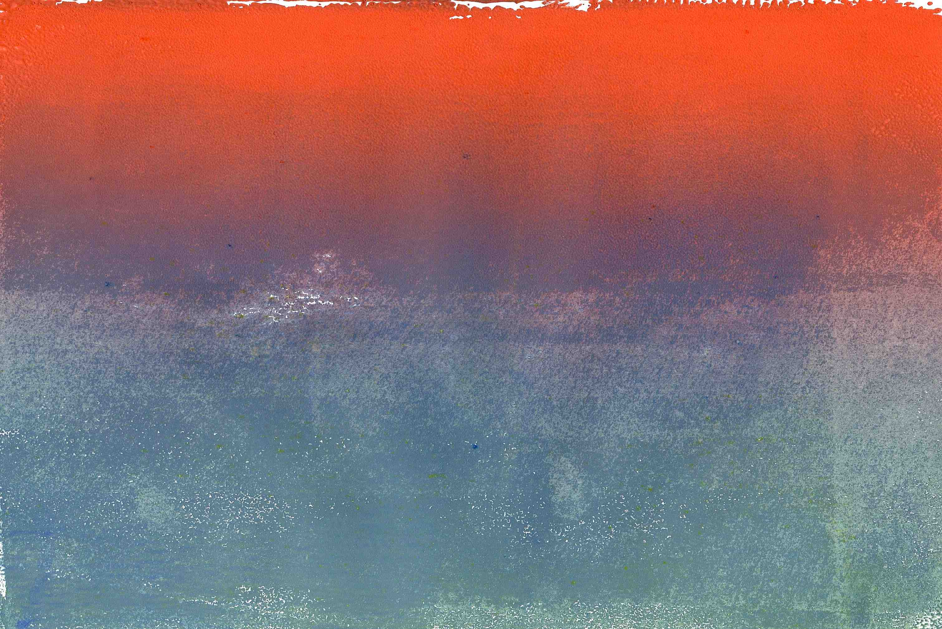 monoprint - sunset