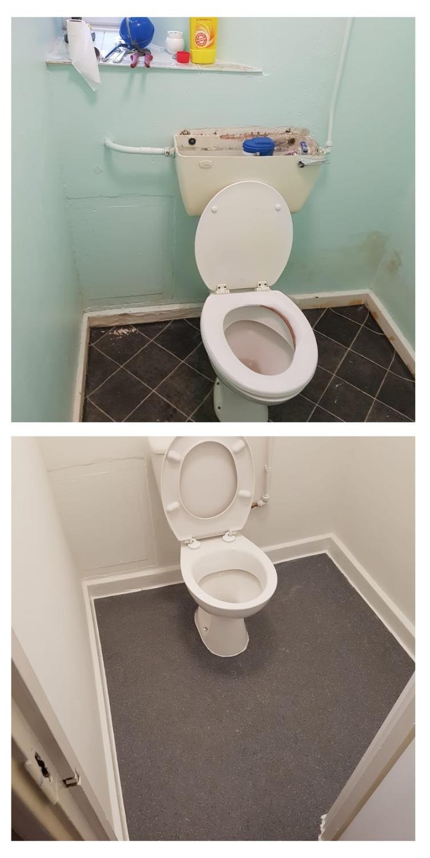 Redecorate visitor toilet
