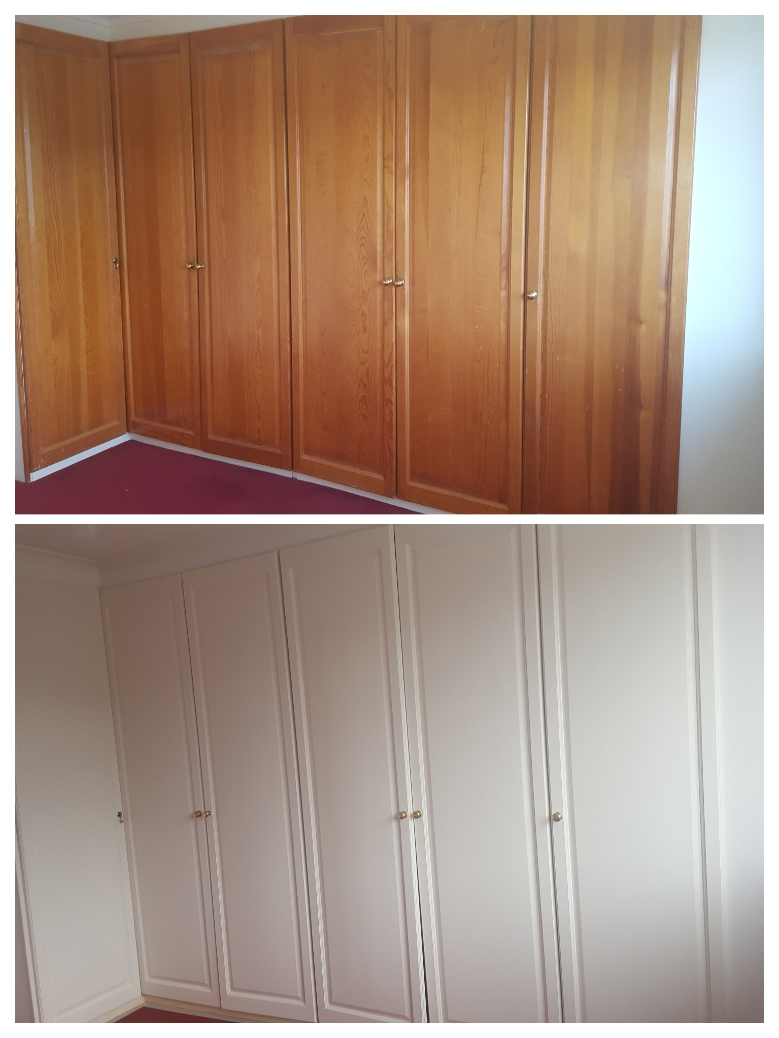 Repaint built in wardrobe