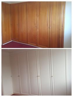 Repaint built in wardrobe