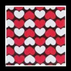ชอคตกแต่ง heart parade black red square 3x3cm 100 pcs (pre order)