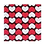 Thumbnail: ชอคตกแต่ง heart parade black red square 3x3cm 100 pcs (pre order)