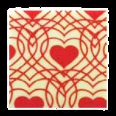 ชอคตกแต่ง red heart square 3 cm 100 pcs (pre order)