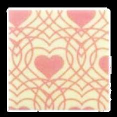 ชอคตกแต่ง pink heart square 3x3 cm 100 pcs (pre order)