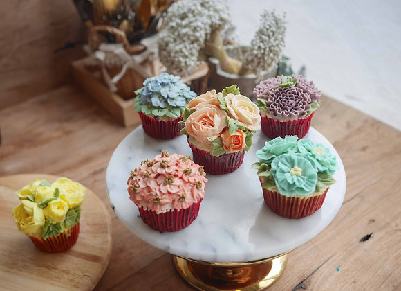 Korean flower piping cupcake 7/3