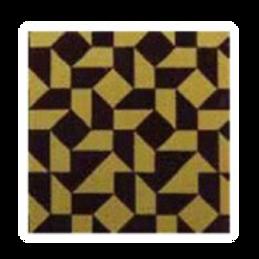 ชอคตกแต่ง mosaic brown square 3x3cm  100 pcs (pre order)