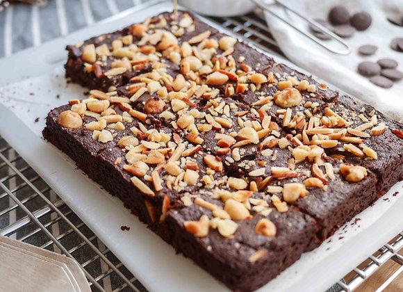 Vegan nut brownie 8 pcs