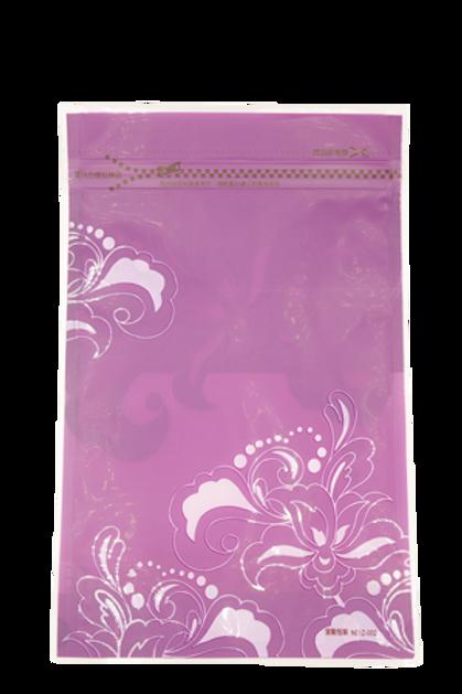 ถุงซิปลอคสีม่วง ดอกไม้ 25x16cm 20 ใบ