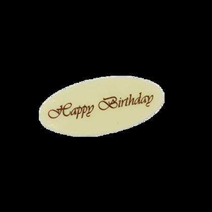 happy birthday white วงรี 100 Pcs (pre order)