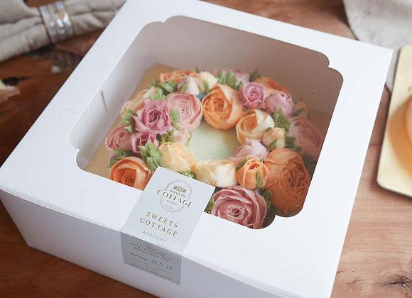 Korean flower piping cake 28/2