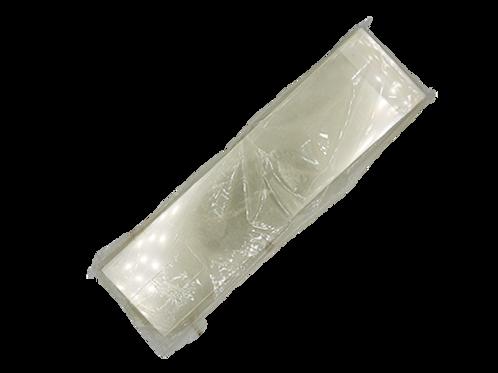แรปแข็งปลายมีแถบเทปกาว 100ใบยาว22ซม