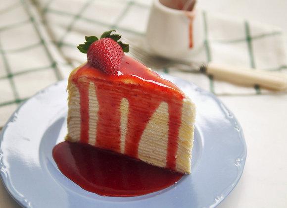 C37 Crepecake w/ strawberry sauce