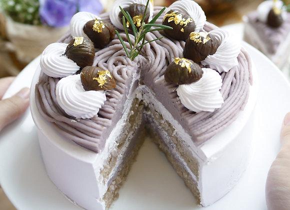 C39 Taro vegan cake เค้กเผือกเจ