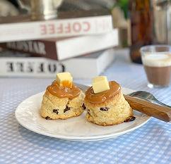 salted caramel scone