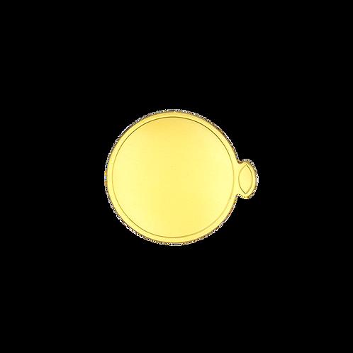 กระดาษรองมูสสีทองกลม 8cm  100 ใบ