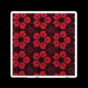ชอคตกแต่ง sakura black red square  3x3 cm 100pcs (pre order)