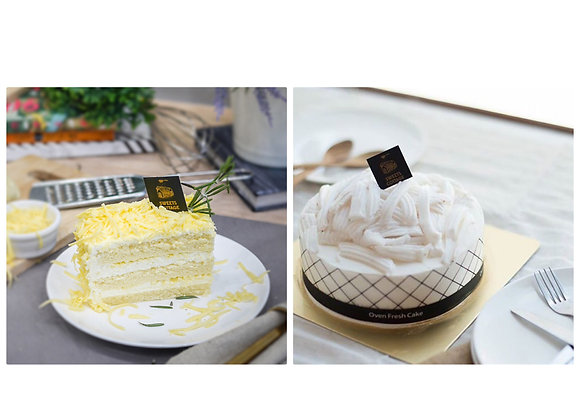 Coconut cake + Cheddar cheese cake 20/10