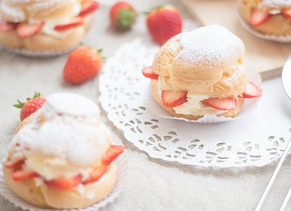 Vanilla strawberry choux cream 18/11