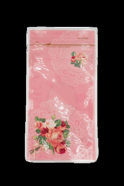ถุงซิปลอคชมพู ดอกกุหลาบ 23x12cm 20 ใบ