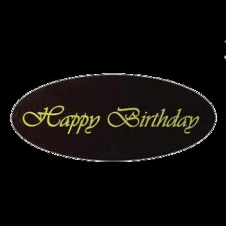 happy birthday brown วงรี100pcs (pre order)