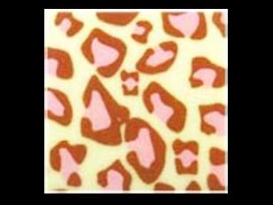 ชอคตกแต่ง jaguar  pink square 3x3 cm 100pcs (pre order)