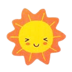 ชอคตกแต่ง sun 3.5cm 100 pcs (pre order)