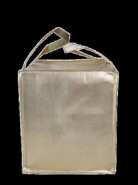 กระเป๋าเก็บความเย็นทอง มีซิป 32x32x40cm