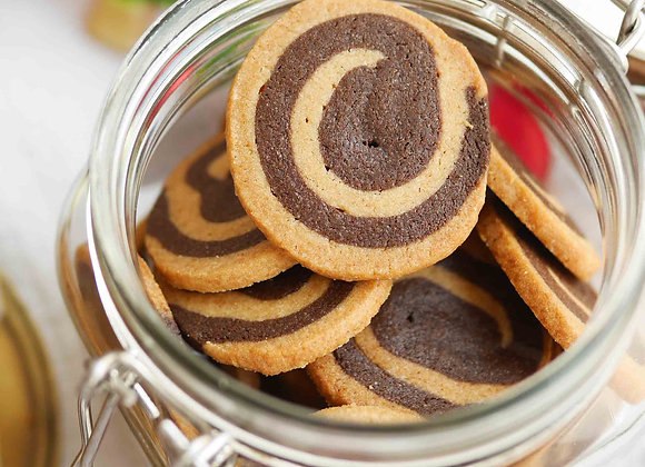 Two-tone chocolate+ Cappucino cookie 9/1
