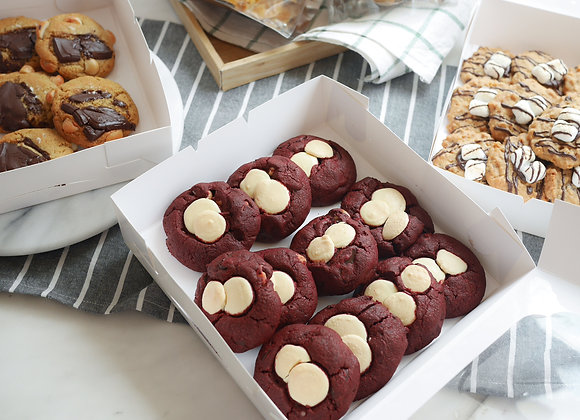 Cheddar cheese cookie + red velvet cookie 30/8