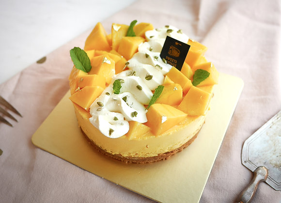 C15 Mango Double Layer Cheesecake
