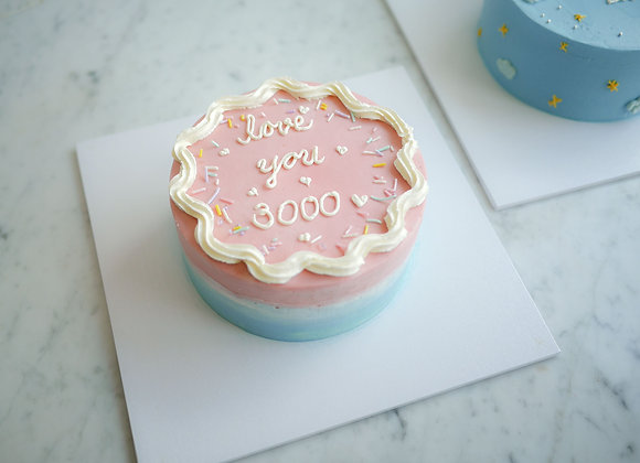 Minimal cake love you 3000 1 ปอนด์