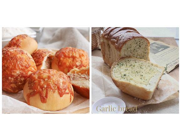 Garlic butter bread + Tuna and cheese bread 9/9