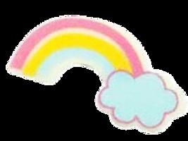 ชอคตกแต่ง rainbow blue 4.5 x2.5 cm 100 pcs (pre order