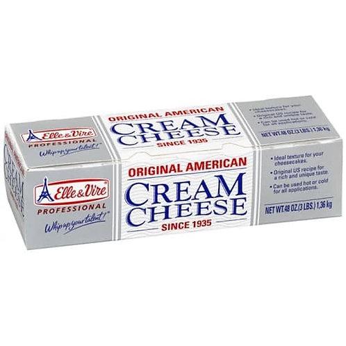 ครีมชีส cream cheese Elle & Vire 1.3kg