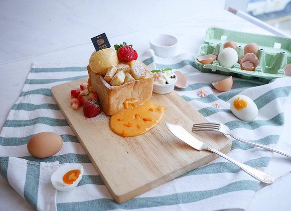 Salted egg lava toast 10/3