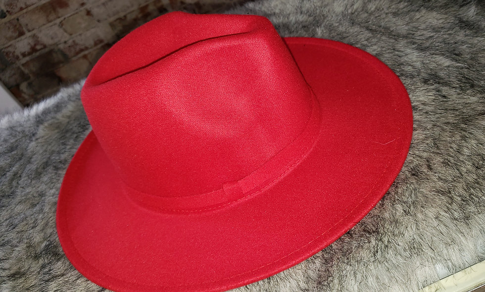 Red Show Stopper Fedora