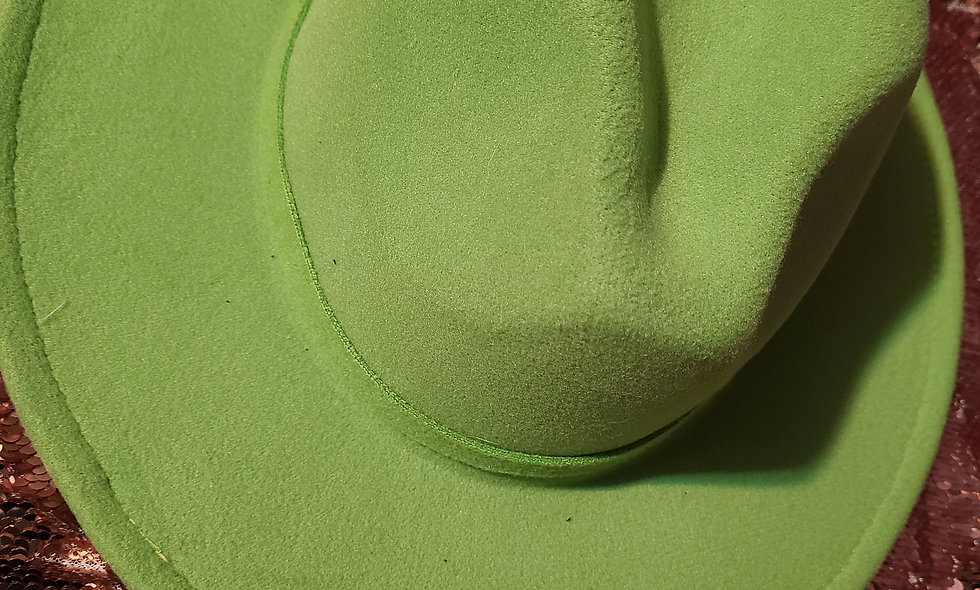 Lime Green Fedora