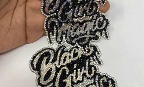 Black Girl Magic Rhinestone Patch