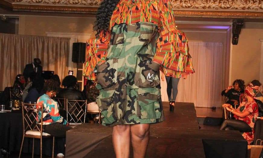 Afrikan Top Fatigue Dress w/Headwrap